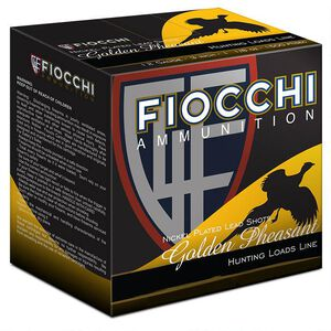 "Fiocchi Golden Pheasant 12 Gauge Ammunition 3"" #4 Shot 1-3/4oz Nickel Plated Lead Shot 1200fps"