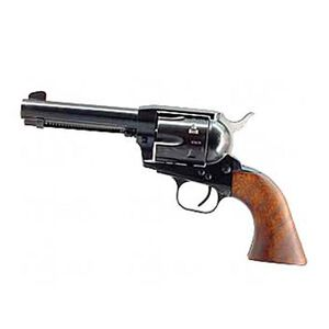 "European American Armory Bounty Hunter Revolver Single Action Army .22LR / .22WMR, 4.75"" Barrel, Alloy Blue Finish, Walnut Grips, 8 Rounds, 2 Cylinders Included, Right Hand, 41.6oz , Fixed Sights 771120"