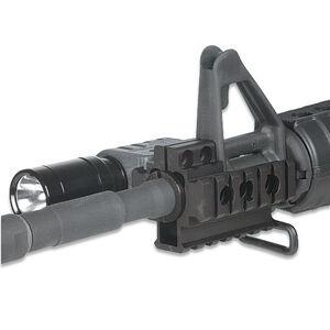 Leapers UTG AR-15 Tri-Rail Front Sight Barrel Mount Aluminum Black MNT-BR101TR-A