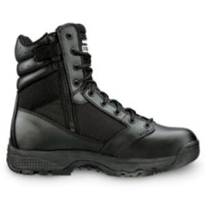 """Original S.W.A.T. WinX2 8"""" Side Zip Men's Boot Size 5.5 Regular Thermoplastic Heel and Toe Non-Marking Sole Leather/Nylon Black 101201-55"""