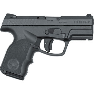 """Steyr Arms S9-A1 Semi Automatic Pistol, 9mm Luger, 3.6"""" Barrel, 10 Rounds, Black Polymer Frame, Accessory Rail 39.821.2"""