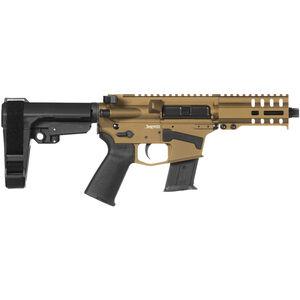 "CMMG Banshee 300 Mk57 5.7x28mm AR-15 Semi Auto Pistol 5"" Barrel 20 Rounds RML4 M-LOK Handguard CMMG Micro/CQB RipBrace Burnt Bronze Finish"