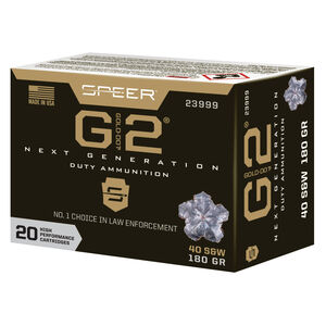 Speer Gold Dot G2 Personal Protection .40 S&W Ammunition 20 Rounds 180 Grain GD2HP 1015 fps