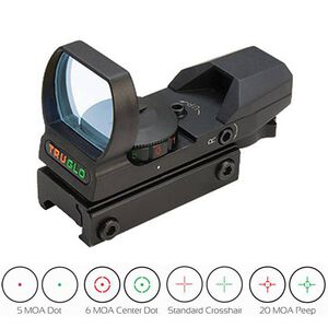 TRUGLO 34mm Sight Dual Color Multi Reticle Red/Green Matte Black TG8360B