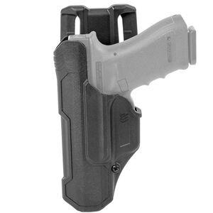 BLACKHAWK! T-Series Level 2 Duty Holster For GLOCK 17/19/22/23/34/35 Left Hand Polymer Black