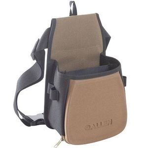 Allen Eliminator Double Compartment Shooting Bag, Black/Tan