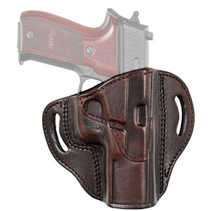 Tagua Gunleather TX1836 Cannon GLOCK 17/22 and Most Standard Size Double Stack 9/40 Handguns Belt Slide Holster Right Hand Leather Brown