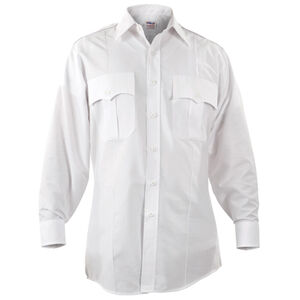 "Elbeco Paragon Plus Men's Long Sleeve Shirt Neck 16.5 Sleeve 33"" Polyester Cotton White"