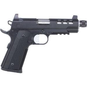 "Dan Wesson Discretion Commander 1911 .45 ACP Semi Auto Pistol 5"" Threaded Barrel 8 Rounds Suppressor Height Night Sights G10 Grips Black"