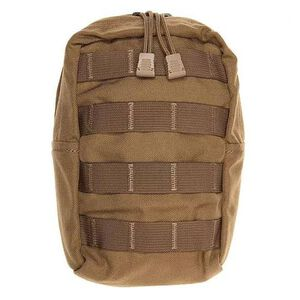 "Tac Shield Vertical Zippered Utility Pouch 6""x9""x4"" Nylon Coyote Tan T4103CY"