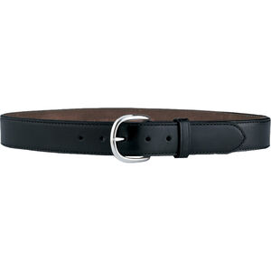 "Galco Gunleather CSB7 Cop Belt Belt 1.5"" Wide Nickel Plated Brass Buckle Leather Size 46 Black CSB7-46B"