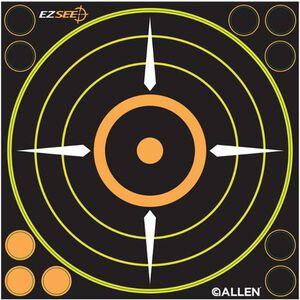 """Allen EZ See Adhesive Bullseye Target, 8.5"""" x 8.5"""", 6 Targets Per Pack, 15228"""