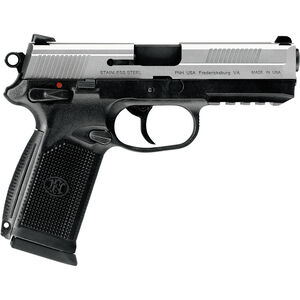 """FNH USA FNX-45 Semi Automatic Pistol .45 ACP 4.5"""" Barrel 10 Rounds Polymer Frame Black with Stainless Slide 66963"""