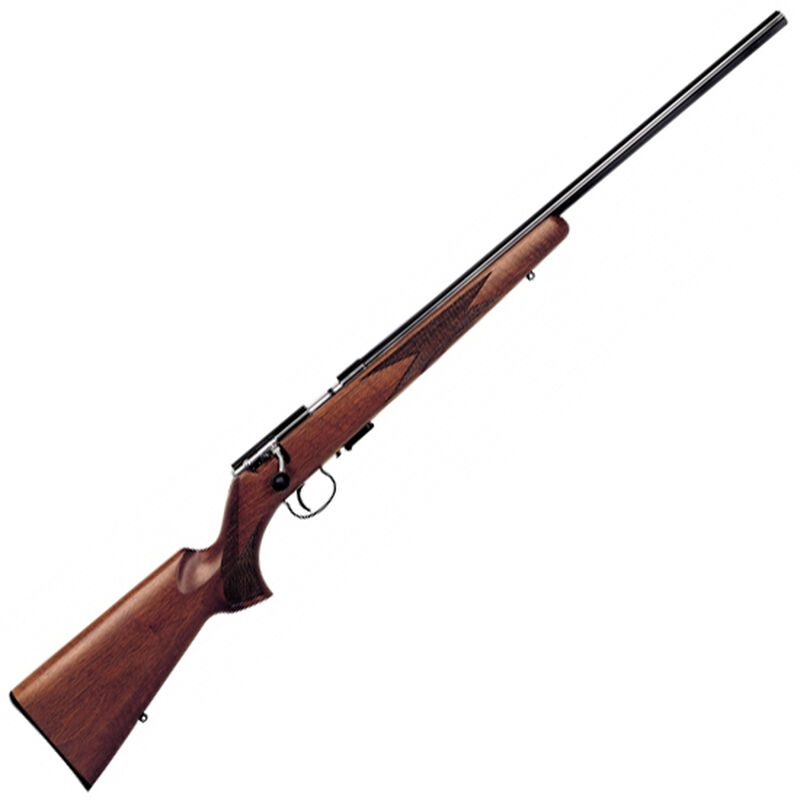 "Anschutz 1517 D HB Nuss Classic Bolt Action Rifle .17 HMR 23"" Heavy Barrel 4 Rounds Single Stage Trigger Walnut Stock Blued Finish 009955"