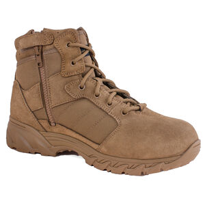 """Smith & Wesson Breach 2.0 Men's 6"""" Side Zip Boot Size 5 Coyote"""
