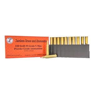 Jamison .220 Swift 55gr Hornady V-Max Polymer Tip 20rds