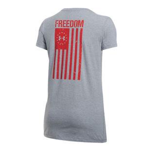 Under Armour UA Freedom Flag Women's Short Sleeve T-shirt Extra Small Cotton/Polyester/Elastane Steel Light Heather