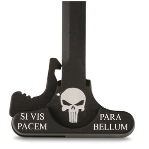 DoubleStar AR-15 Charging Handle Lasered With Punisher Skull