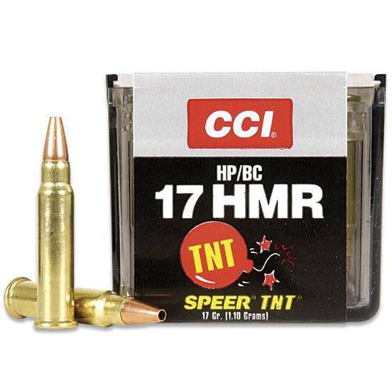 CCI TNT .17 HMR Ammunition 50 Rounds Hollow Point 17 Grain 2,550 Feet Per Second