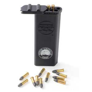 North American Arms Catch22 Belt Clip Ammo Carrier .22 Short/Long Rifle/Magnum Compatible Polymer Matte Black