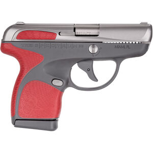 "Taurus Spectrum .380 ACP Semi Auto Pistol 2.8"" Barrel 6 Rounds Gray Polymer Frame with Red Inserts Stainless Finish"