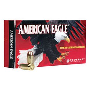 American Eagle .38 Super Automatic +P Ammunition 50 Rounds JHP 115 Grains