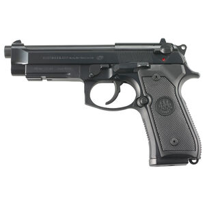 "Beretta M9A1 Semi Automatic Pistol 9mm Luger 4.9"" Barrel 15 Rounds 3 Dot Sights Picatinny Accessory Rail Bruniton Finish Matte Black"
