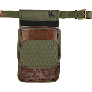 Beretta B1 Signature Shell and Hull Pouch Leather/Canvas Green