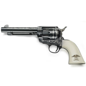 """E.M.F. Great Western II Liberty 1873 Revolver 357 Mag 4.75"""" Barrel 6 Rounds Laser Engraved Ivory Grips Blued"""