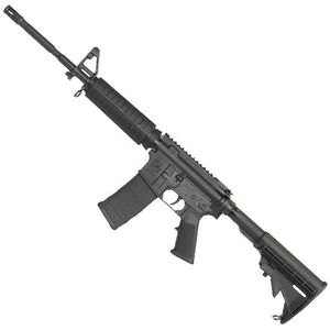 "ArmaLite M-15 DEF15F AR-15 Semi Auto Rifle 5.56 NATO 16"" Barrel 30 Rounds Polymer Hand Guard A2 Front Sight Flash Suppressor Collapsible Stock Black"