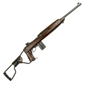 "Inland Manufacturing M1A1 Paratrooper Semi Auto Rifle .30 Carbine 18"" Barrel 15 Rounds Adjustable Sights Walnut Folding Wire Stock Parkerized ILM150"