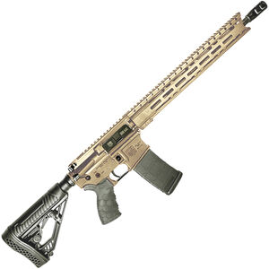"Diamondback Firearms DB15E AR-15 Semi Auto Rifle .300 BLK 30 Rounds 16"" Barrel M-LOK Handguard Collapsible Stock FDE"