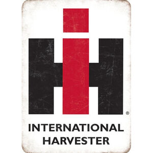 "Open Road Brands ""International Harvester"" Embossed Tin Sign 10""x14"""