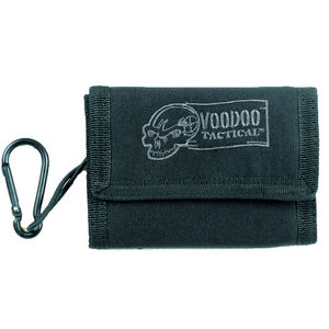 Voodoo Tactical Tri-Fold Military Wallet with Removable Carabineer Nylon Black 012401000