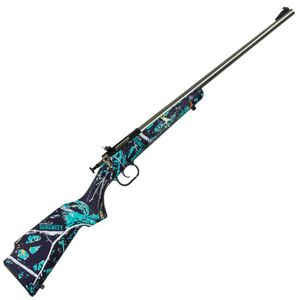 "Keystone Arms Crickett Single Shot Bolt Action Rimfire Rifle .22 Long Rifle 16.125"" Barrel Stainless Steel Metal Finish Synthetic Stock Muddy Girl Serenity Finish"