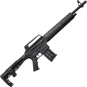 "Charles Daly AR-12S 12 Gauge AR Style Semi Auto Shotgun 19.75"" Barrel 5 Round Box Magazine Polymer Furniture Carry Handle Fixed Stock Black Finish"