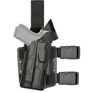 Safariland Model 7304 7TS ALS/SLS Tactical Holster Fits S&W M&P 2.0 with TLR-1 and Similar Lights Right Hand SafariSeven STX Plain Matte Black