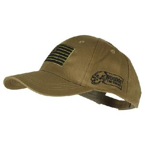 Voodoo Tactical Cap with US Flag, Coyote