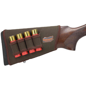 Beartooth Products StockGuard 2.0 Right Hand Shotgun Stock Cover with Ammo Carrier Brown