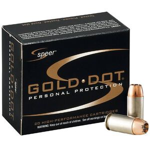 Speer .357 SIG Ammunition 20 Rounds Grain Gold Dot HP 125 Grains