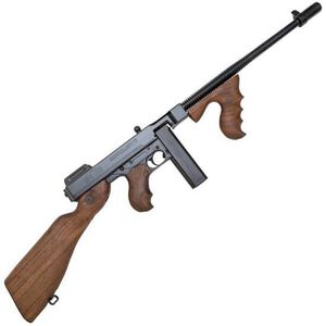 "Auto-Ordnance Thompson 1927A-1 Deluxe Semi Auto Carbine .45 ACP 16.5"" Finned Barrel 20 Round Stick Magazine Blade Front Sight Walnut Stock/Grip Blued Finish T1-14"