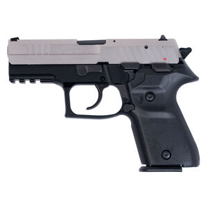 "FIME Group Rex Zero 1CP Compact Semi Auto Pistol 9mm Luger 3.85"" Barrel 15 Rounds Metal Frame Nickel/Black"