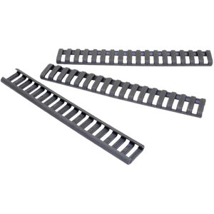 ERGO Low Pro AR-15 Rail Covers 18 Slots Polymer Gray 3 Pack 4373-3PK-GG