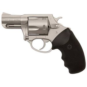 """Charter Arms Pit Bull Revolver .40 S&W 2.3"""" Barrel 5 Rounds Rubber Grips Stainless Finish"""
