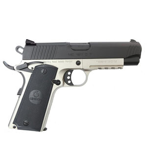 "EAA GiRSAN MC1911C Commander Model 9mm Luger Semi Auto Pistol 4.4"" Barrel 9 Rounds Novak Sights Ambidextrous Safety Two Tone Finish"