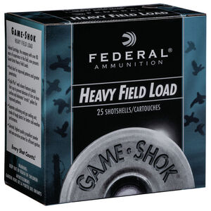 "Federal Game Shok Heavy Field Load 12 Gauge Ammunition 2-3/4"" #6 Lead Shot 1-1/8 Ounce 1255 fps"