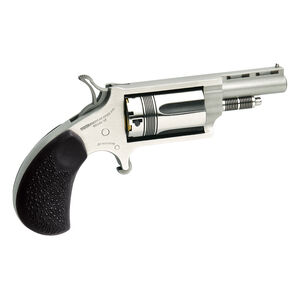 """North American Arms Mini Revolver 22 Mag 1.625"""" Barrel 5 Rounds Rubber Grip Stainless Steel"""