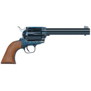 """EAA Bounty Hunter Revolver Single Action Army .45 Long Colt 7.5"""" Barrel 6 Rounds Case Color Frame / Blued Finish Walnut Grips 770020"""