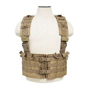 NcSTAR AR-15 Chest Rig Holds 12 Magazines Hydration Compatible Nylon Tan