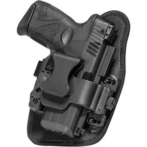 """Alien Gear ShapeShift Appendix Carry Springfield XDM Compact with 3.8"""" Barrel IWB Holster Right Handed Synthetic Backer with Polymer Shell Black"""